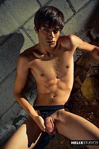 Sexy gay boy Damien Wolfe